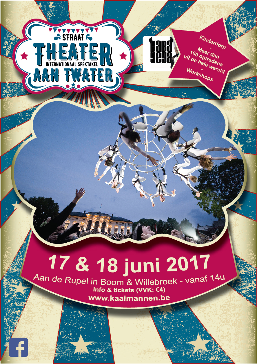 Affiche Theater aan Twater 2017